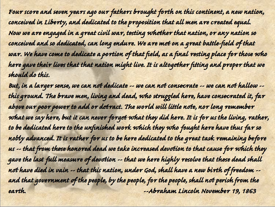 comparison between pericles funeral oration and lincoln s gettysburg adress The gettysburg address the gettysburg national cemetery was dedicated by president abraham lincoln a brief four months after the battle lincoln's.